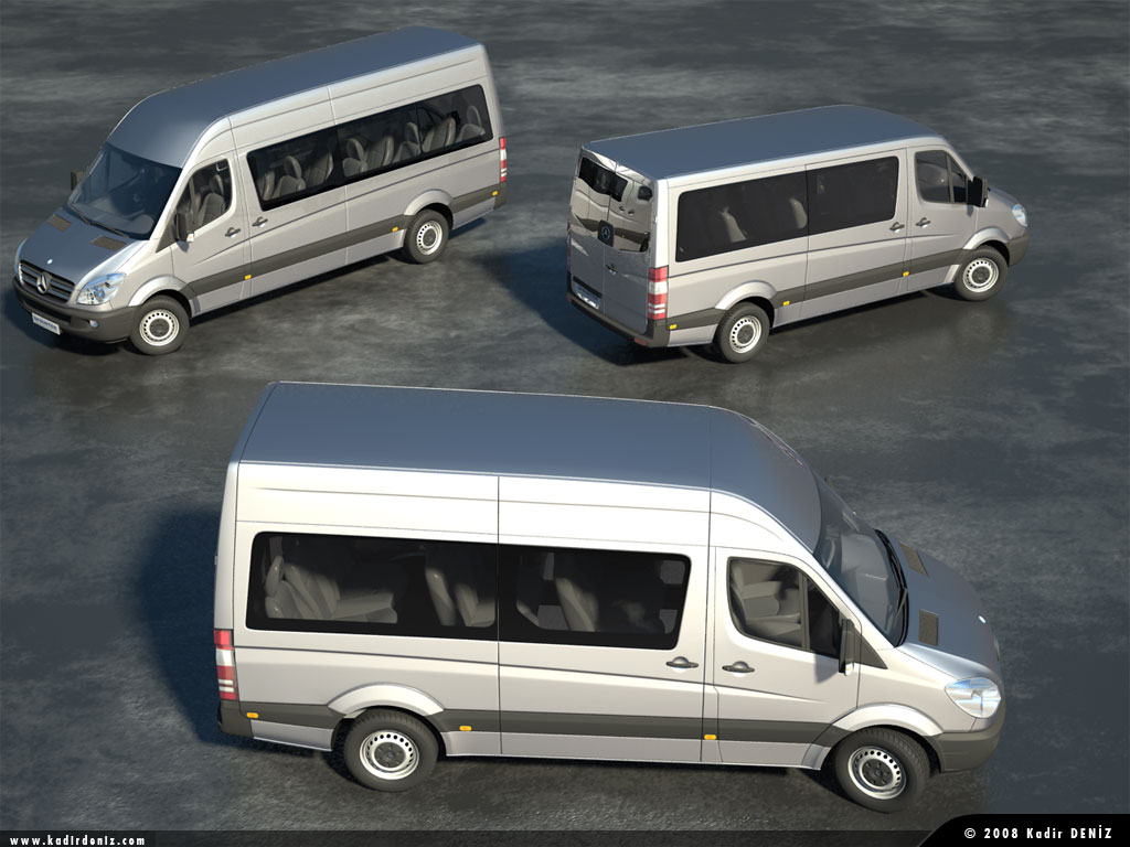 mercedes sprinter kombi 3d animasyon modelleme simulasyon. Black Bedroom Furniture Sets. Home Design Ideas