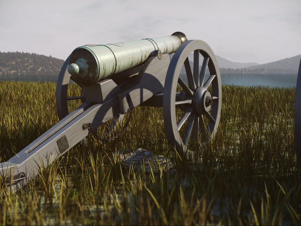 Napoleon Cannon – MassFx & FumeFx Test Scene